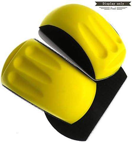 6インチ手研削ブロックマウス型バッキングパッド研磨ディスクホルダーサンドペーパーバッキング研磨パッドと糸くずの裏地-黄-黒