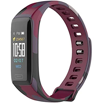 SWEEPID Smart Bracelet Heart Rate Monitor Wristband Multi-sports Waterproof Watch Camouflage red Estimated Price £12.23 -