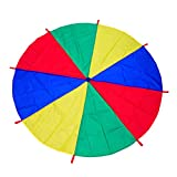 AMYESE 10ft Rainbow Parachute for Outdoor Party Games, Kids Play Parachute Group Cooperative Team Game Toys, Family Get-Together Entertainment