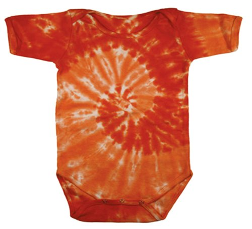 Buy Cool Shirts Tie Dye Swirl Spiral Orange Infant Romper Creeper 18 Mths