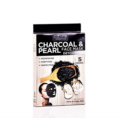 (Charcoal and Pearl Detoxifying Face Mask by Azure - Deep Cleanses and Exfoliates | Reduces Appearance of Sunspots | Reduces Signs of Aging - 5)