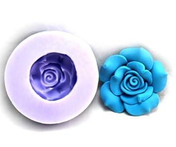 Allforhome Lovely flores resina de silicona arcilla moldes silicona resina azúcar Craft DIY moldes bricolaje pasta