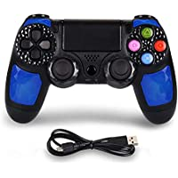 Controller for PS4, Wireless Game Controller for PlayStation 4/Pro/Slim/PC, Wireless controller Gamepad with Led Touch…