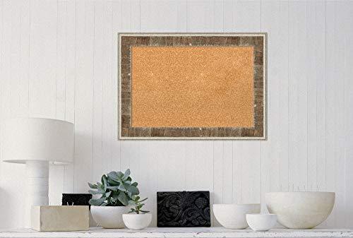 Amanti Art Natural Cork Farmhouse Brown Narrow Framed Bulletin Boards, 29 x 21, by Amanti Art (Image #3)