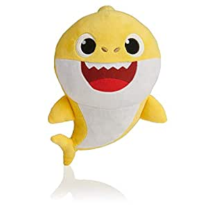 BabyShark Singing Plush - Music Sound Baby Shark Plush Doll Soft Baby Cartoon Shark Stuffed & Plush Toys Singing English Song For Kids - Yellow Color