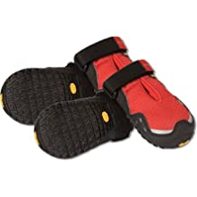 RUFFWEAR GRIP TREX DOG BOOTS ALL TERRAIN PAW PROTECTION ALL SIZES & COLORS SET OF 4 (3.25-Inch, Red Currant)