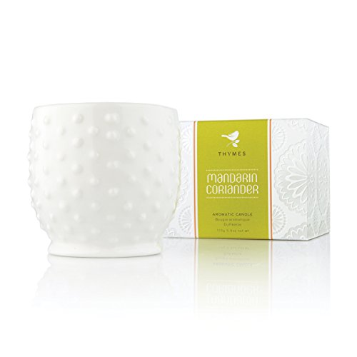 Thymes - Mandarin Coriander Hobnail Candle, 30-Hour Burn Time - 5.5 (Thymes Mandarin Coriander)