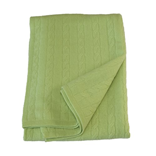 Tootsie Cashmere Pistachio Baby Blanket 40x36 in. Boxed for Gifting