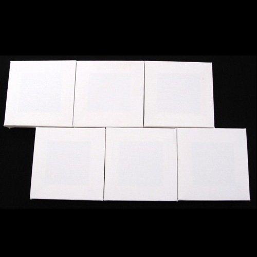 20cm x 20cm Flat Canvas Set of 6 Artists Blank Canvas