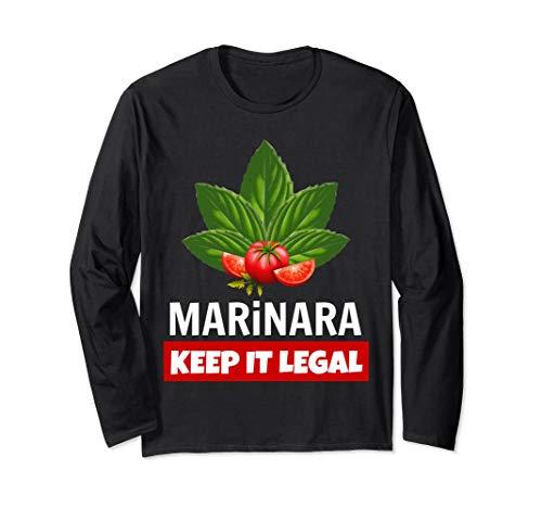 Marinara Keep It Legal Basil and Tomatoes Unisex Long-Sleeve T-Shirt