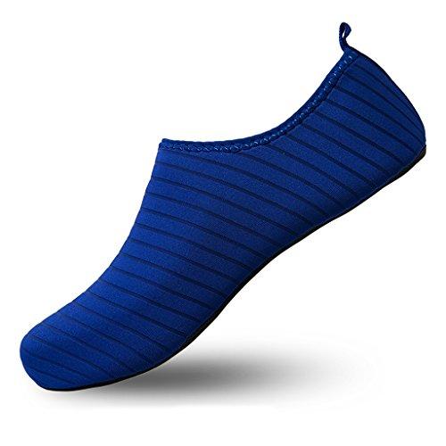 Laiwodun de Azul de Tobillo Tira Claro Mujer Sintético qvr5q