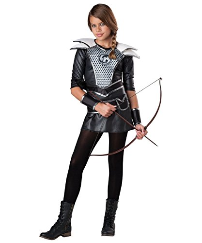 Girls Katniss Costumes (Midnight Huntress Tween Costume - Medium)