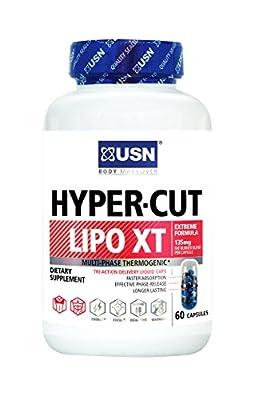 USN Hyper Cut Lipo XT Fat Burner Nutritional Supplement, 60 Count