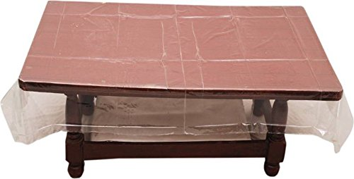 Khushi Creations Abstract 6 Seater Table Cover  Transparent, PVC