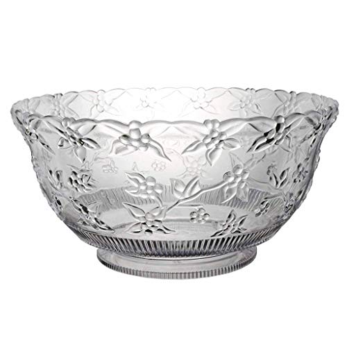 - Xl Punch Bowl 12-Quart Beautifully Embossed Vine Motif Punch Clear Crystal Clear Hard Plastic Punch Perfect Party Table Focal Point for Weddings Baby Showers Buffets and More 14.25 x 7 Inch in Diamete