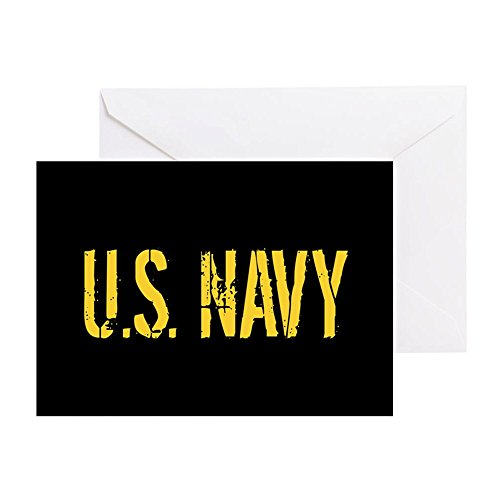 - CafePress - U.S. Navy: Black & Gold - Greeting Card, Note Card, Birthday Card, Blank Inside Matte