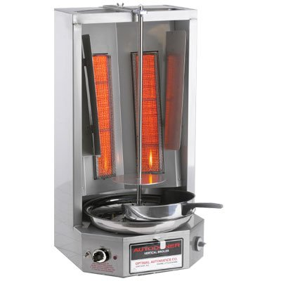 Autodoner 3PG-LP Optimal Automatic Vertical Broiler for Gyros, Liquid Propane, Stainless Steel