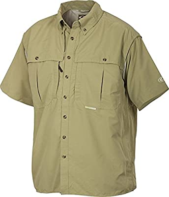 Drake Waterfowl Wingshooter Short Sleeve Vented Shirt (Sea Green, X-Large)