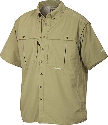Drake Waterfowl Wingshooter Short Sleeve Vented Shirt (Sea Green, X-Large)