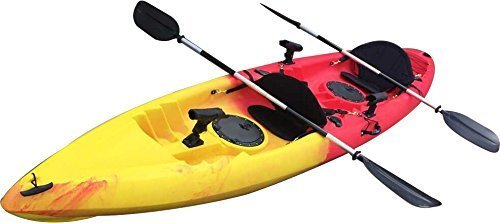 BKC UH-TK181 12-foot 5-inch Sit On Top Tandem 2 Person Fishing Kayak with Paddles, Seats, and 7 Fishing Rod Holders included by Brooklyn Kayak Company