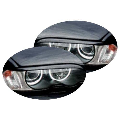 KMH-SBLE462 - Scheinwerferblende Bö ser Blick passend fü r 3er E46 Limousine Facelift kmh-tuning