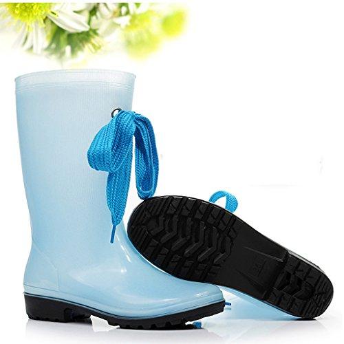 Impermeables Estudiante 2 Botas De Altas Goma Mujer Zapatos Antideslizantes Princesa wgOBYPAg