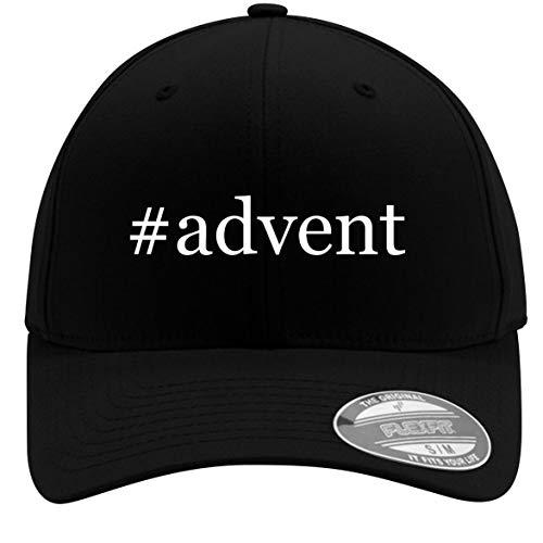 (#Advent - Adult Men's Hashtag Flexfit Baseball Hat Cap, Black, Large/X-Large)