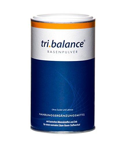tri.balance Basenpulver + Zink 400g zur Entsäuerung | Magnesium + Calcium + Kalium | Für die Säure-Basen-Balance | Ideal bei Sport · Diät · Basenfasten | Vegan