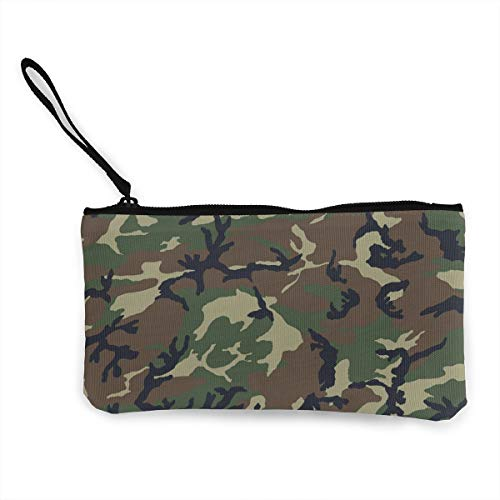 TLDRZD Army Camouflage 3D Print Cute Canvas Smartphone Wristlets Cash Coin Purses Make Up Bag Cellphone Clutch Purse with Wrist Strap