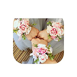 New Wrist Corsage Bridesmaid Sisters Hand Flowers Artificial Bride Flower Wedding Dancing Party Decor Prom 106
