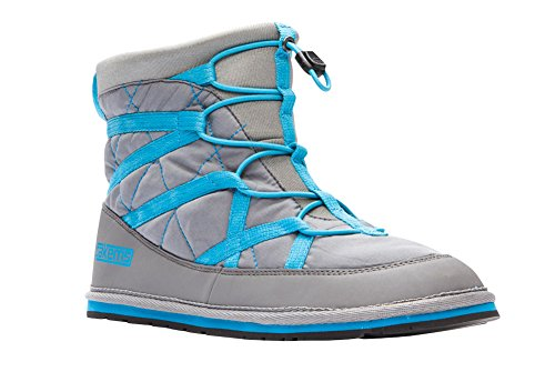 Pakems Extreme Boot - Womens Lightweight Packable Shoe - Perfect For Camping, Hiking, Snowshoe, Snowboarding, Around The House, and More Gray/Blue