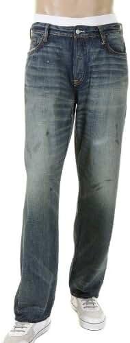 Denim Jeans white logo Evisu ESP09MJE117 D141 EVIS1369