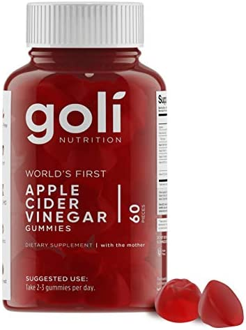 World's First Apple Cider Vinegar Gummy Vitamins by Goli Nutrition – Immunity & Detox – (1 Pack, 60 Count, with The Mother, Gluten-Free, Vegan, Vitamin B9, B12, Beetroot, Pomegranate)