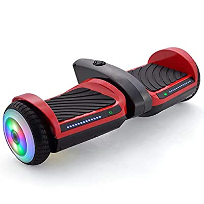 Supersale 6.5'' Bluetooth Rocket Jet Hoverboard with Glowing Water Vapor Jets Space Sound Effect: Sports & Outdoors