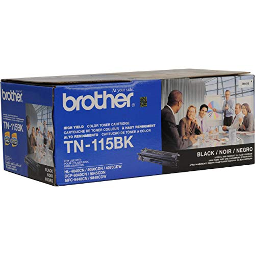 Brother TN115BK High Yield Black Toner Cartridge - Retail Packaging (Brother 4040cn)