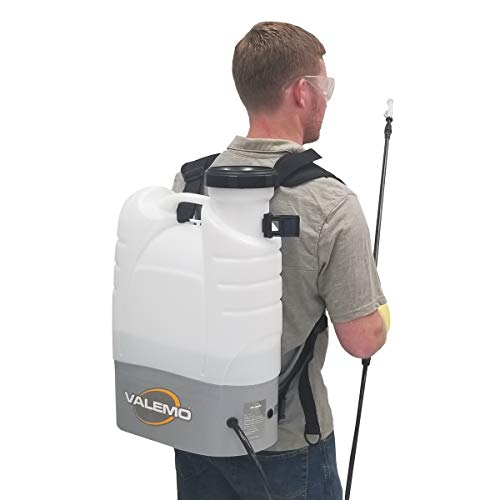 VF-ES100-B Cordless Electrostatic Backpack Sprayer and Low-Volume Fogger for Total Coverage Spraying of Disinfectant Solutions and More.