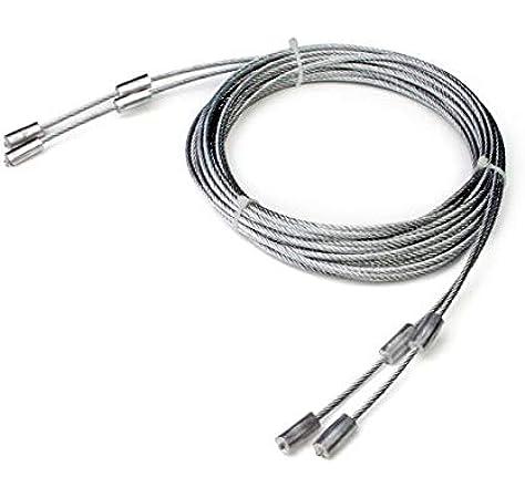 Recambio para puerta seccional: Cable de acero cortado a la medida con terminales especiales incorporados para sujeción en soporte inferior. Largo para 4 paneles: Amazon.es: Bricolaje y herramientas