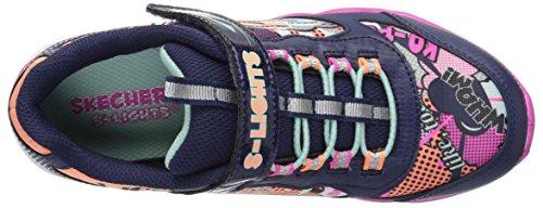 luxe Lumi navy Formateurs Skechers Fille multi Multicolore SCTgq