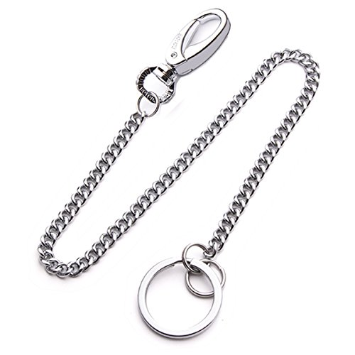 Lancher Anti Lost Key Chain with (2 Extra Key Rings and Gift Box) Key Clip Wallet Chains 15