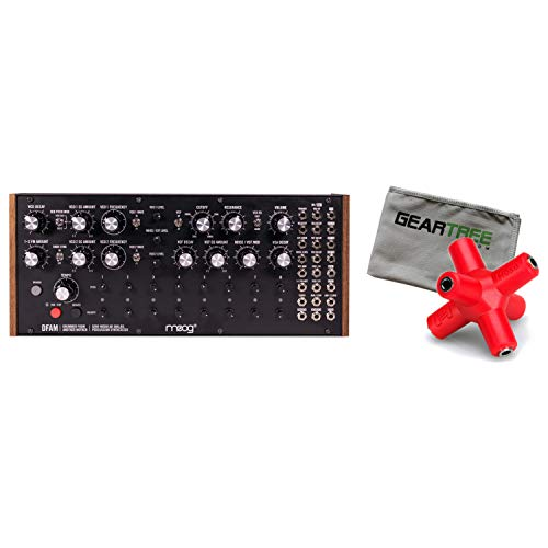Moog DFAM (Drummer from Another Mother) Analog Synth w/Splitter and Cloth