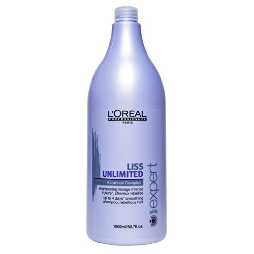 (L'oreal Liss Unlimited Keratin Oil Complex Shampoo for Unisex, 50.7 Ounce)