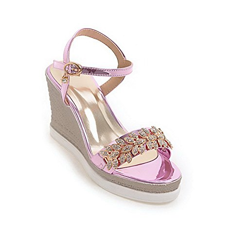 AdeeSu Womens Platforms-Sandals Studded Hiking Urethane Platforms Sandals SLC04044 Pink e0vZKMC2ZP