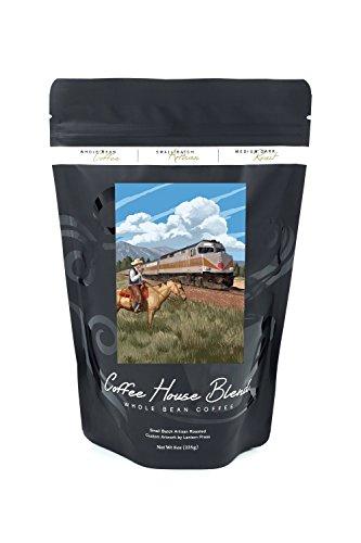 d Cowboy (8oz Whole Bean Small Batch Artisan Coffee - Bold & Strong Medium Dark Roast w/ Artwork) ()