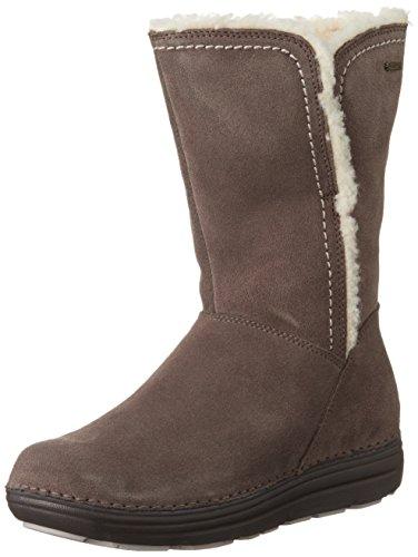 Ladies Clarks Casual Boots - Nelia Net GTX Brown