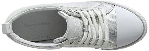 Alto Calvin Rory 000 Sneaker Klein Metal Flocking Svw a Donna Collo Canvas Argento 44rqfwnUZ