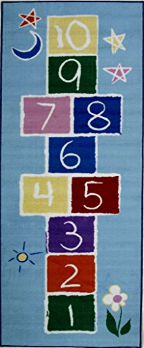 Primary Hopscotch Rug (Fun Time-Primary Hopscotch FT-191 1929 19x29 Inch Childrens Area Rug)