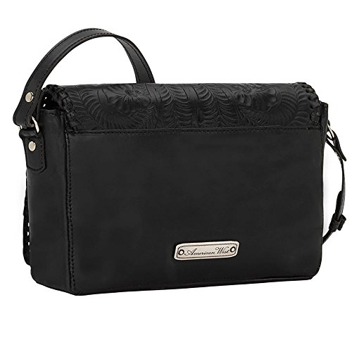 American West Women's Lariat Love Crossbody Bag/Wallet Black One Size by American West (Image #2)
