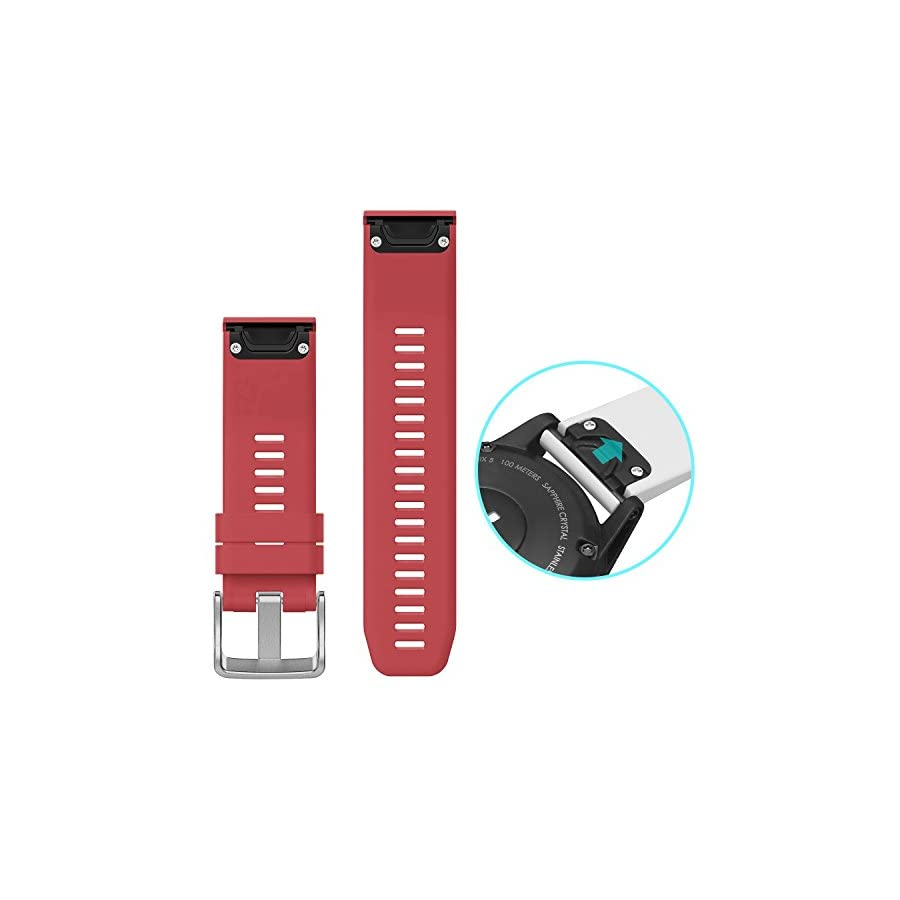 SKYLET Garmin Fenix 5/Forerunner 935 Bands, 2 Pack Silicone Replacement Accessories Straps for Garmin Fenix 5/Forerunner 935 GPS Watch (Watch Not Included)