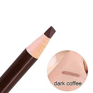 Eyebrow Pencil Long Lasting Waterproof Easy To Color Durable Peel Off Pull Cord Brow Pen Makeup Cosmetic (dark coffee)