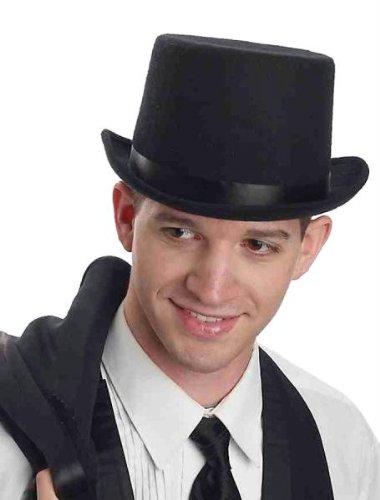 Forum Novelties Men's Super Deluxe Top Hat-Black, As Shown, Standard -